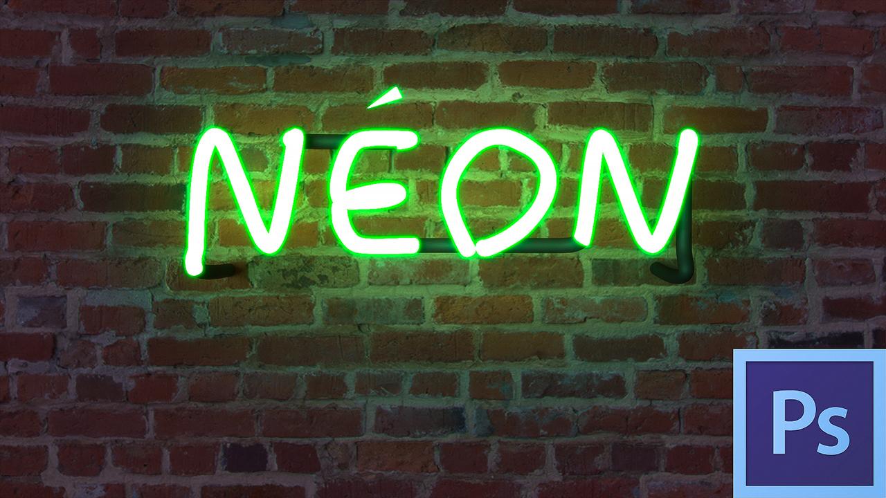 """Dans cette vidéo je vous montre comment réaliser un effet """"néon"""" dans Photoshop CC"""