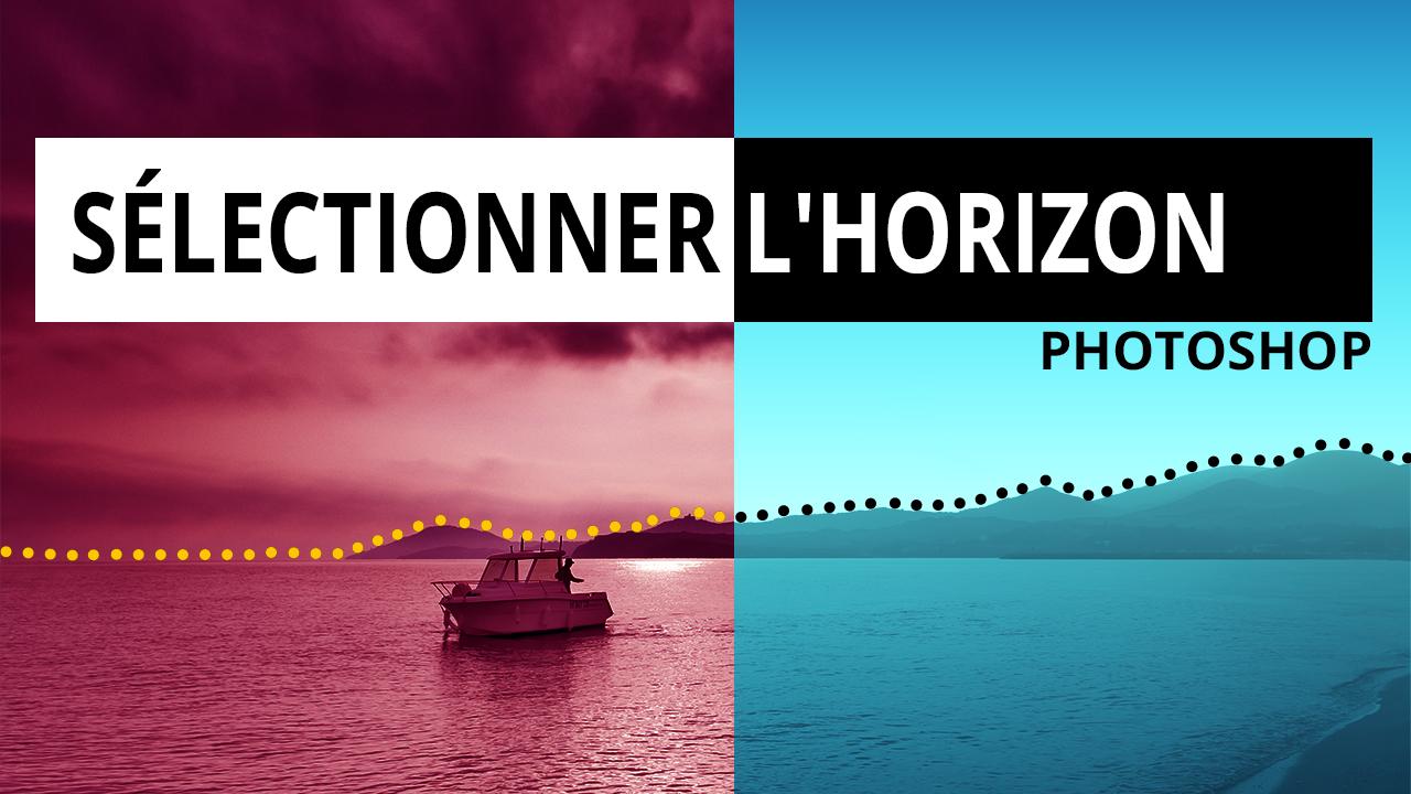 """Apprenez dans Photoshop avec la commande """"plage de couleurs"""" sélectionner un horizon avec des nuages afin de modifier le paysage."""