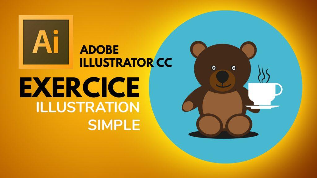 Comment faire une simple illustration avec Illustrator. Dans cette vidéo, je vous propose un exercice simple de mise en application du cours précédent sur les objets à base de primitives dans Illustrator CC