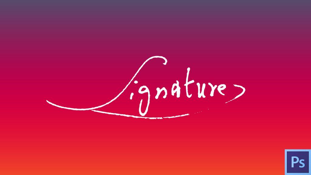 Dans cette vidéo je vous montre comment faire une signature dans Photoshop à partir d'une vraie signature réalisée sur papier