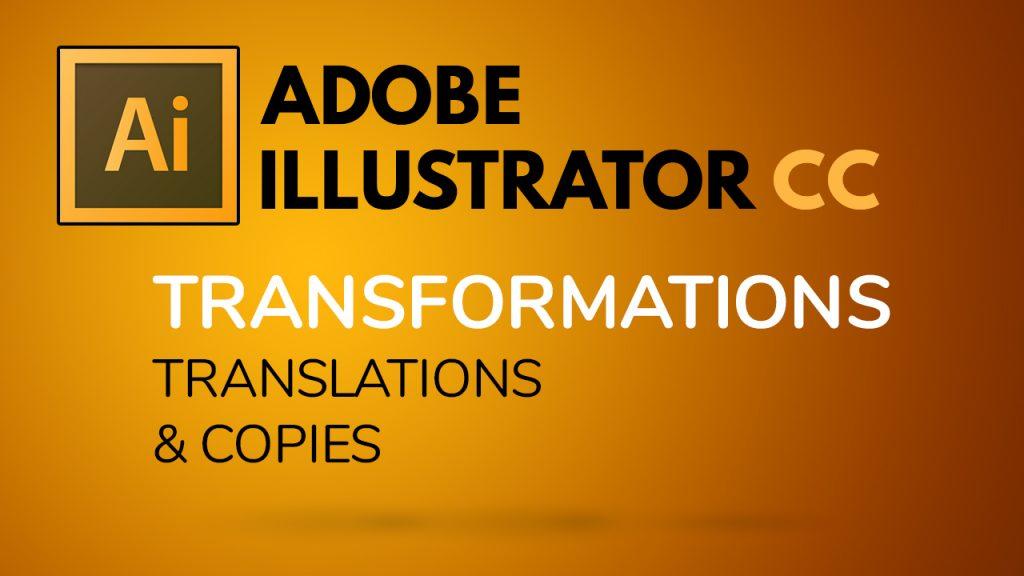 Déplacements et copies dans Illustrator
