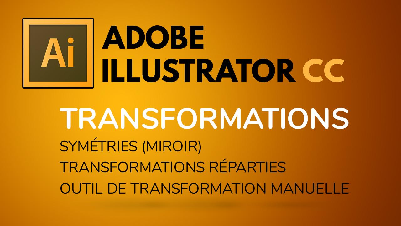 Dans cette vidéo, nous voyons les transformations en miroir (symétries), les transformations réparties et l'outil de transformation manuelle.