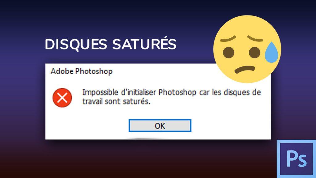 Disques saturés Photoshop