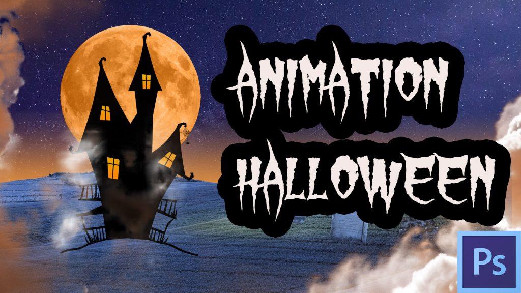 arte Halloween animée Photoshop