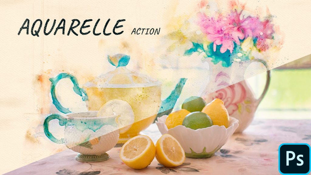 Action aquarelle Photoshop