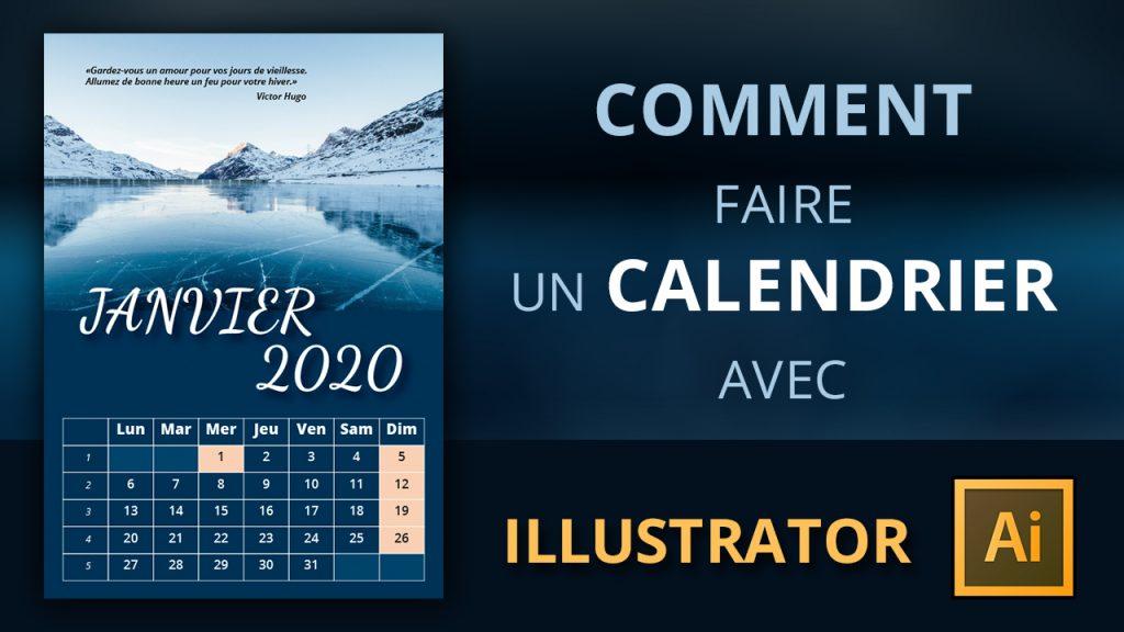 Coment faire un calendrier avec Illustrator
