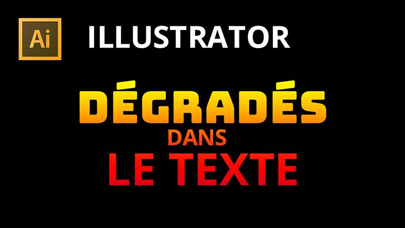 Dégradés sur le texte dans Illustrator
