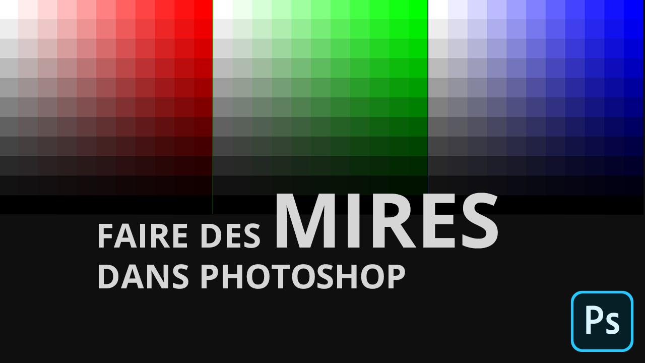 Mire de couleurs dans Photoshop