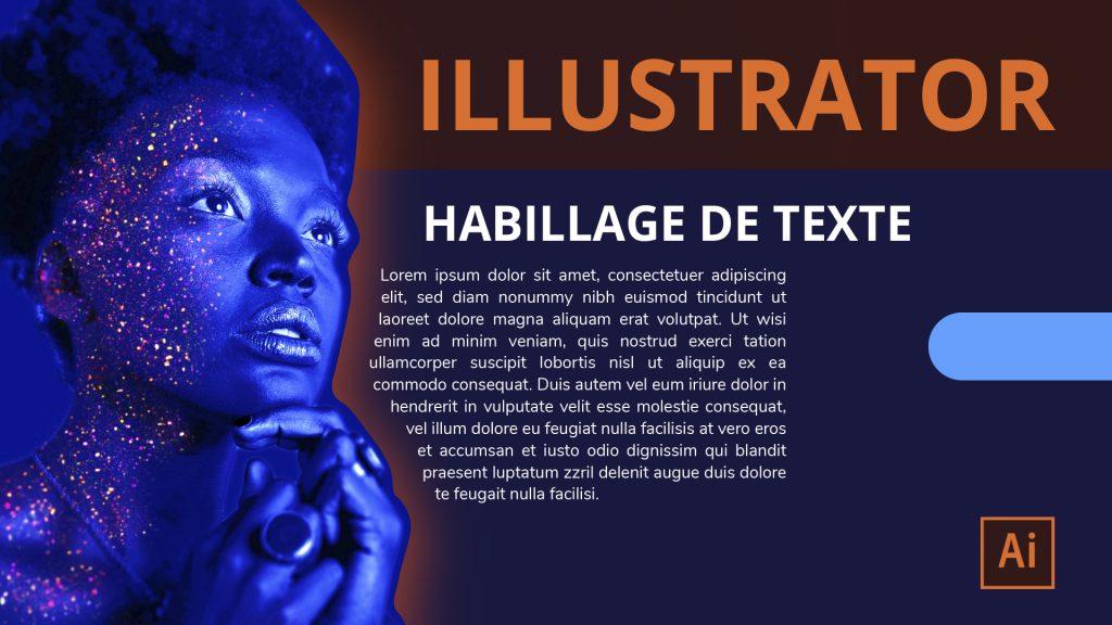 Habillage de texte dans Illustrator