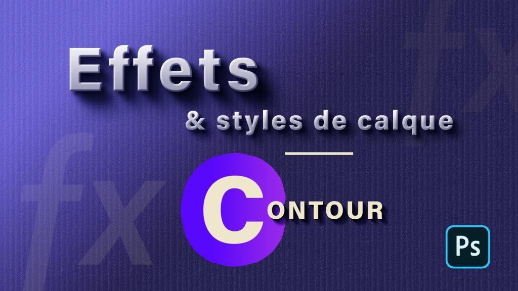 Effet contour Photoshop