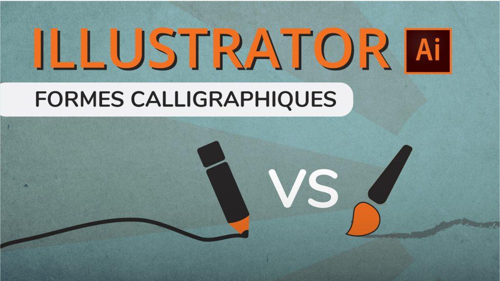 Forme calligraphique Illustrator