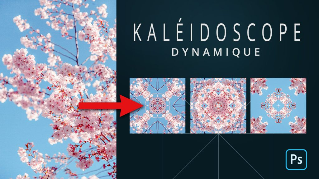 Effet kaléidoscope Photoshop. Tutoriel Photoshop