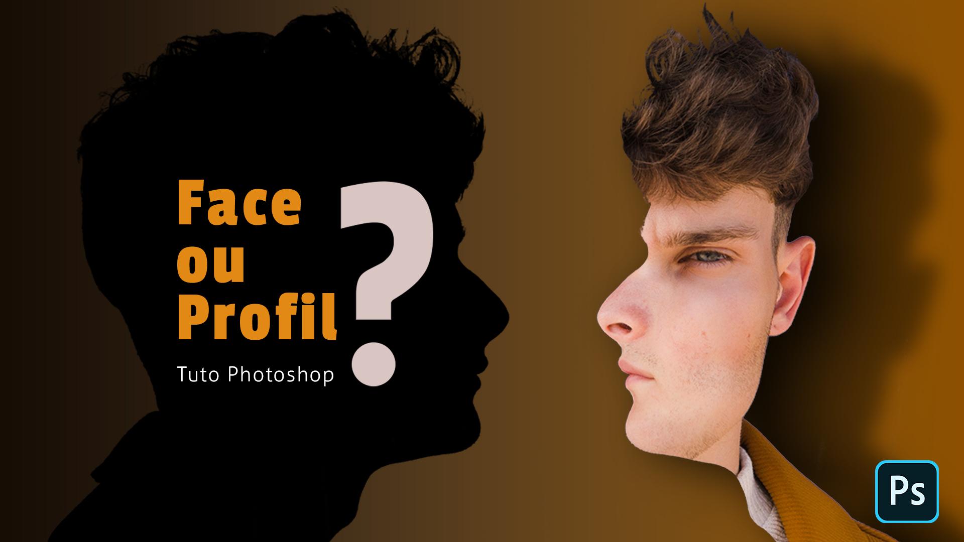 Comment mélanger un profil et une face tuto Photoshop
