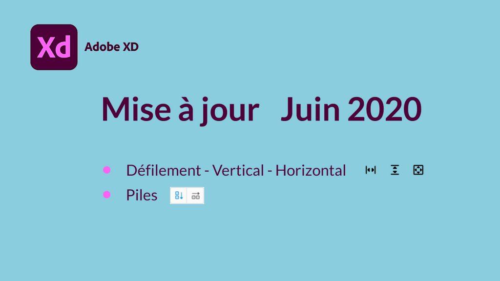 Mise à jour Juin 2020 Adobe XD
