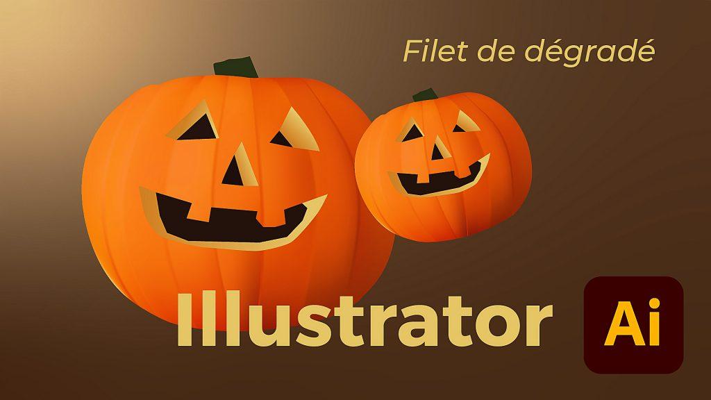 Dans cette vidéo, je vous présente les bases du fonctionnement des filets de dégradé, dans Illustrator CC.