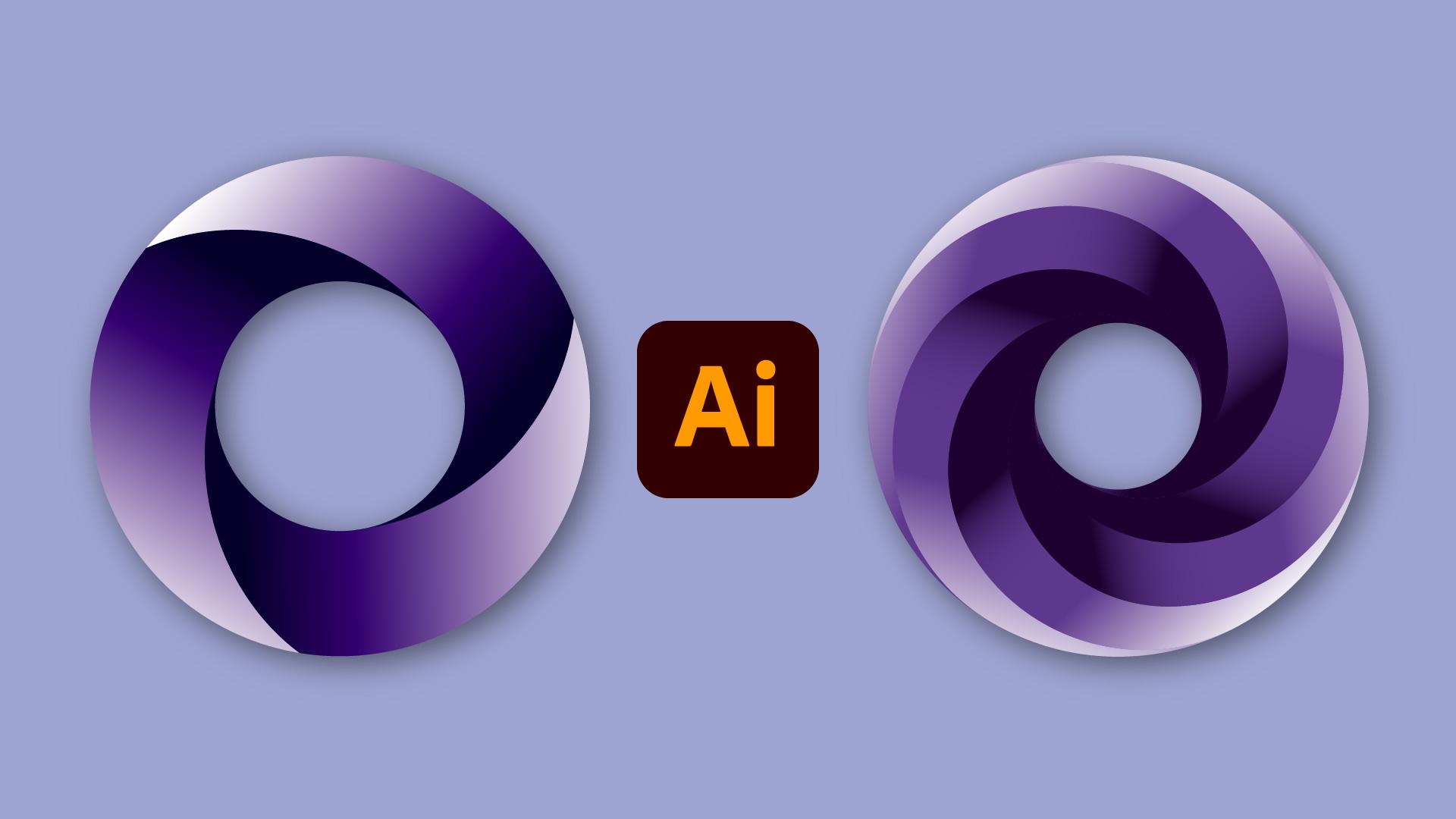 Dégradé ronds logo Illustrator