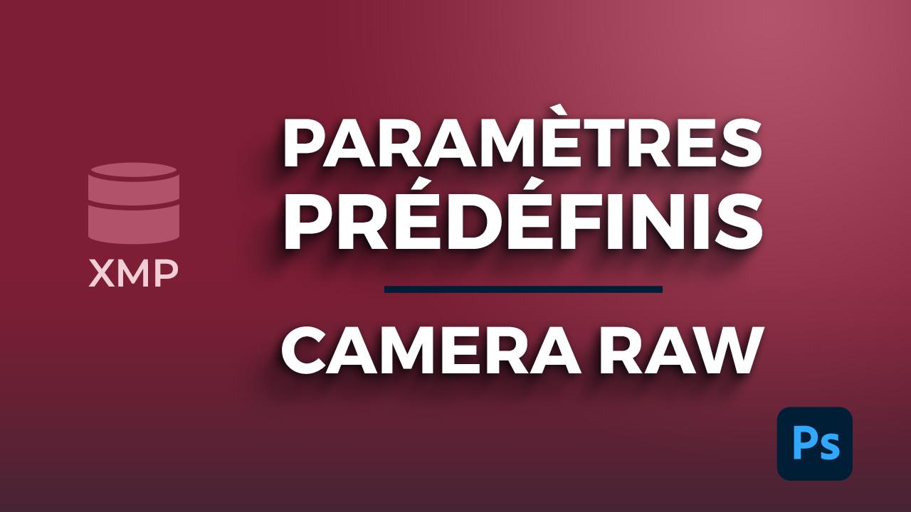 Les paramètres de développement et paramètres prédéfinis dans Camera raw