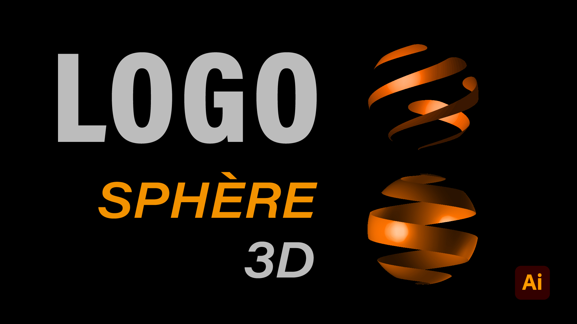 Comment faire un logo sphererique3D avec illustrator