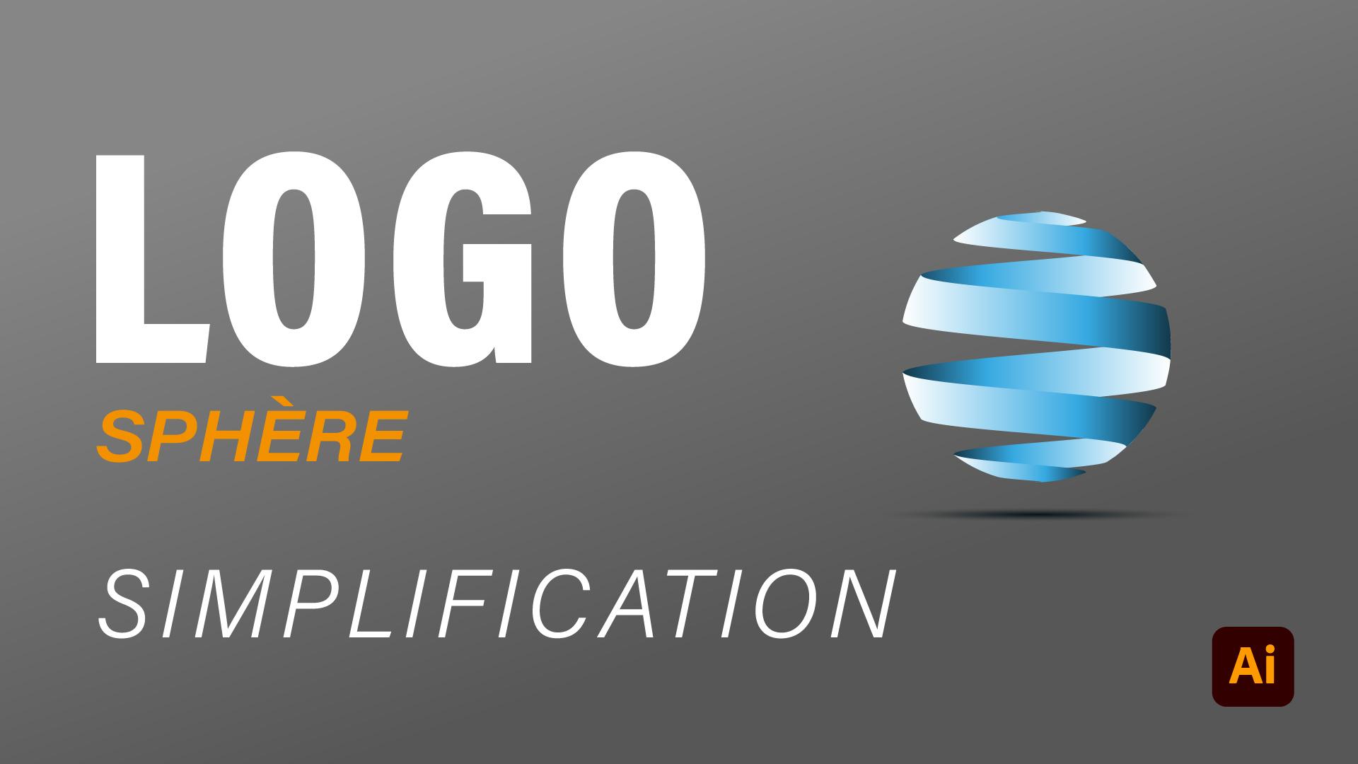 Comment faire un logo sphere 3D simplifié avec illustrator