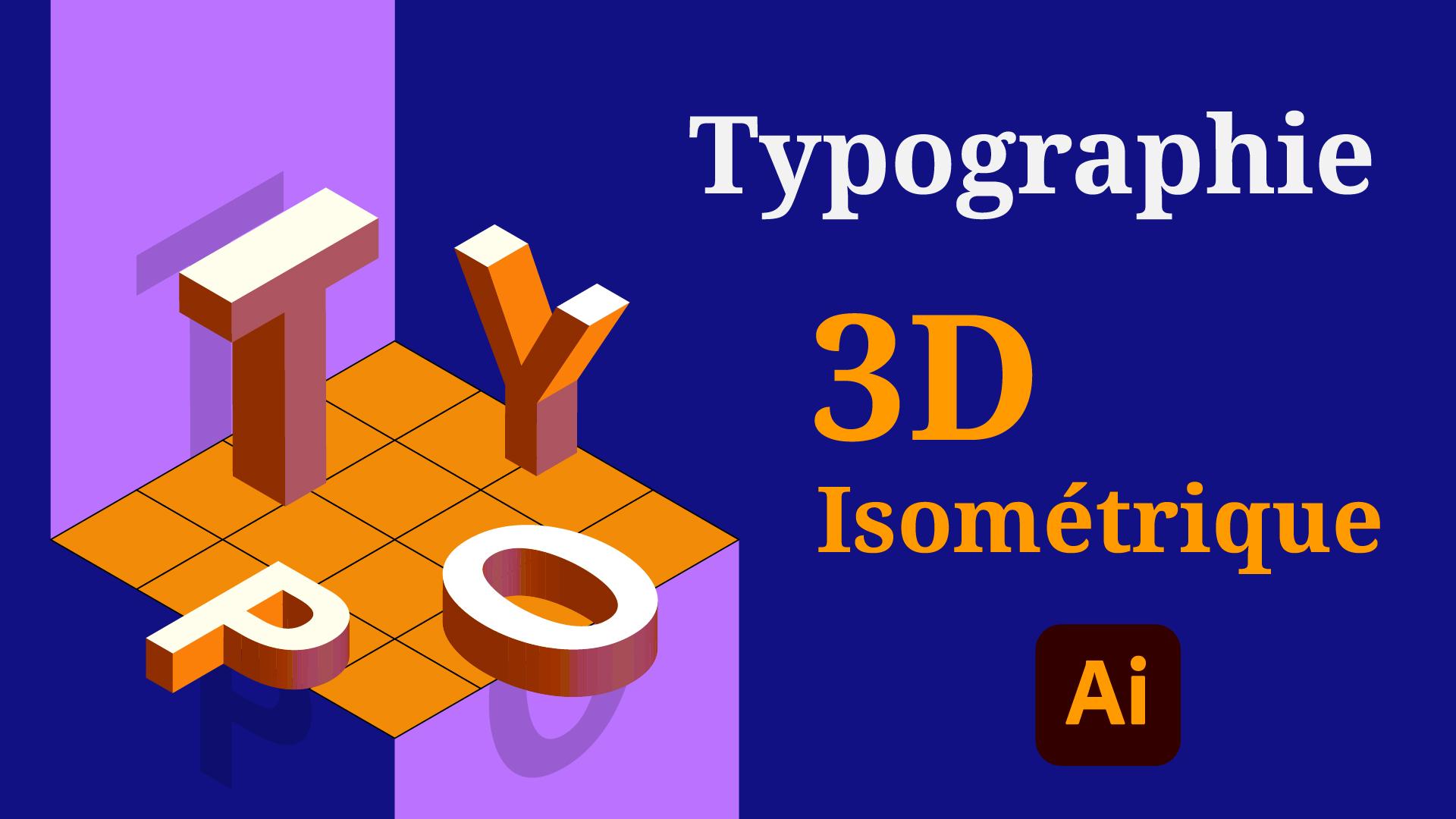 Dans cette vidéo e vous montre comment faire pour placer des caractères en vue 3D isométrique dans Illustrator.