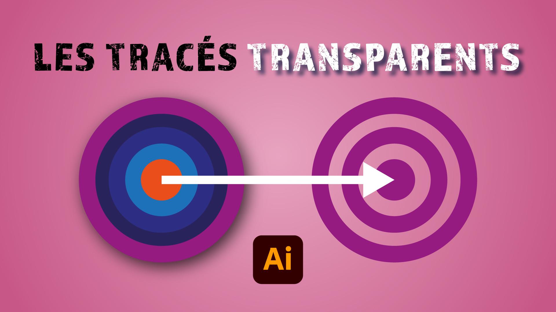 Dans cette vidéo je vous montre ce que sont les tracés transparents et comment ils fonctionnent dans Illustrator