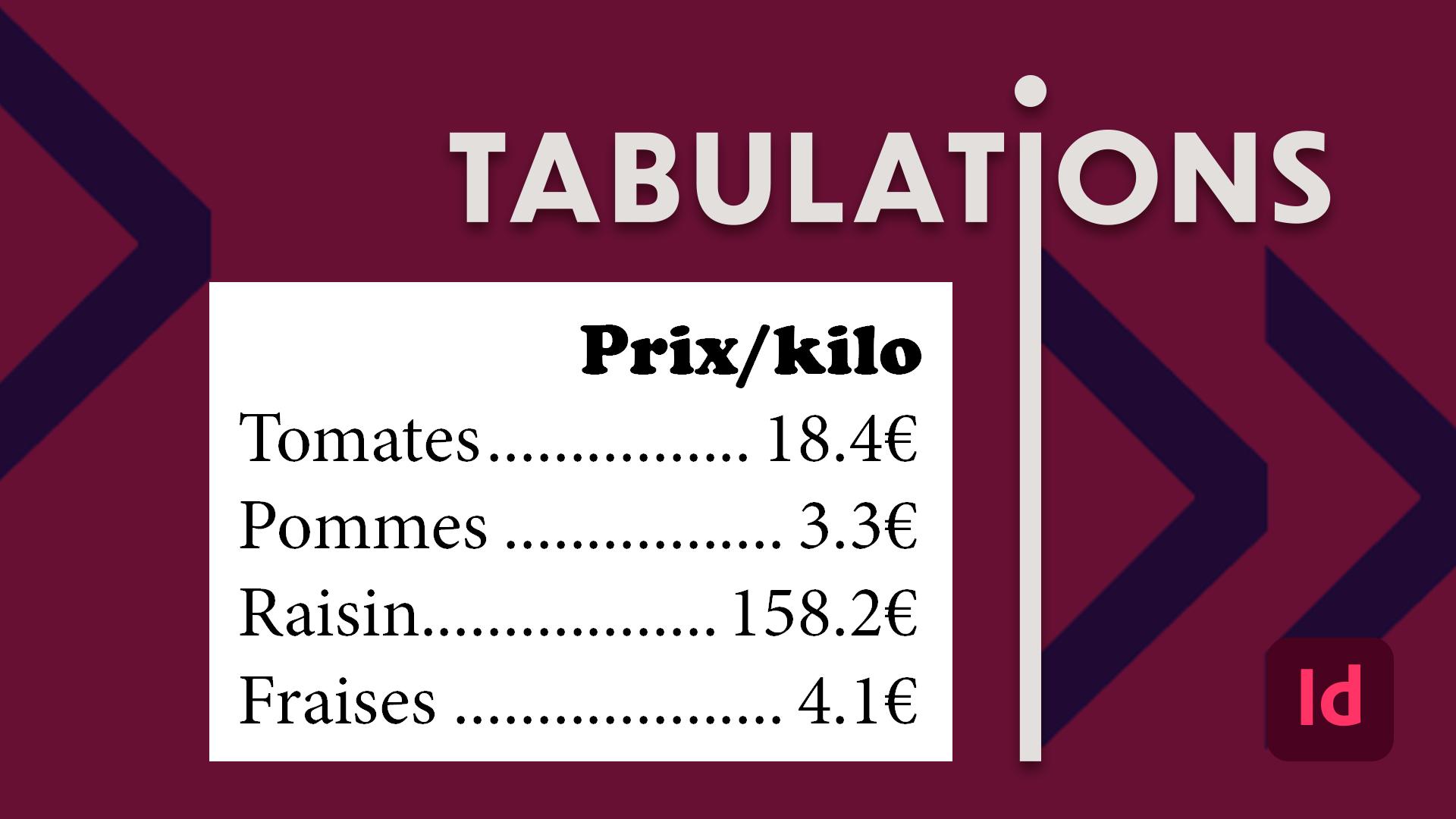 Voici une vidéo d'initiation aux tabulations dans InDesign