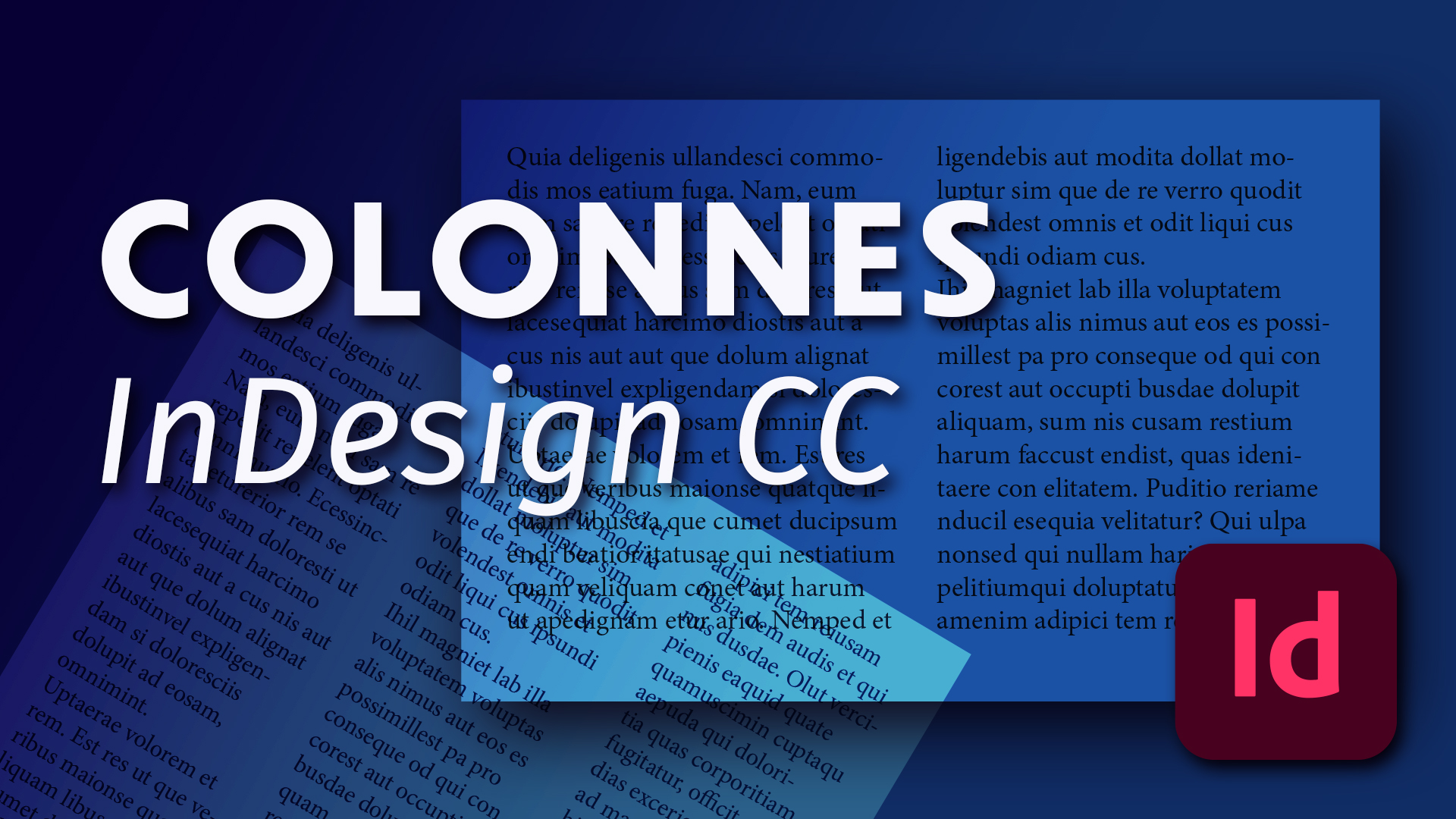 comment créer et gérer les colonnes dans un document et un bloc de texte InDesign