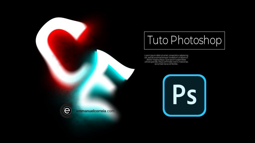 On continu dans cet exercice à travailler les effets et les déformation avec les caractères dans ce tutoriel Photoshop.